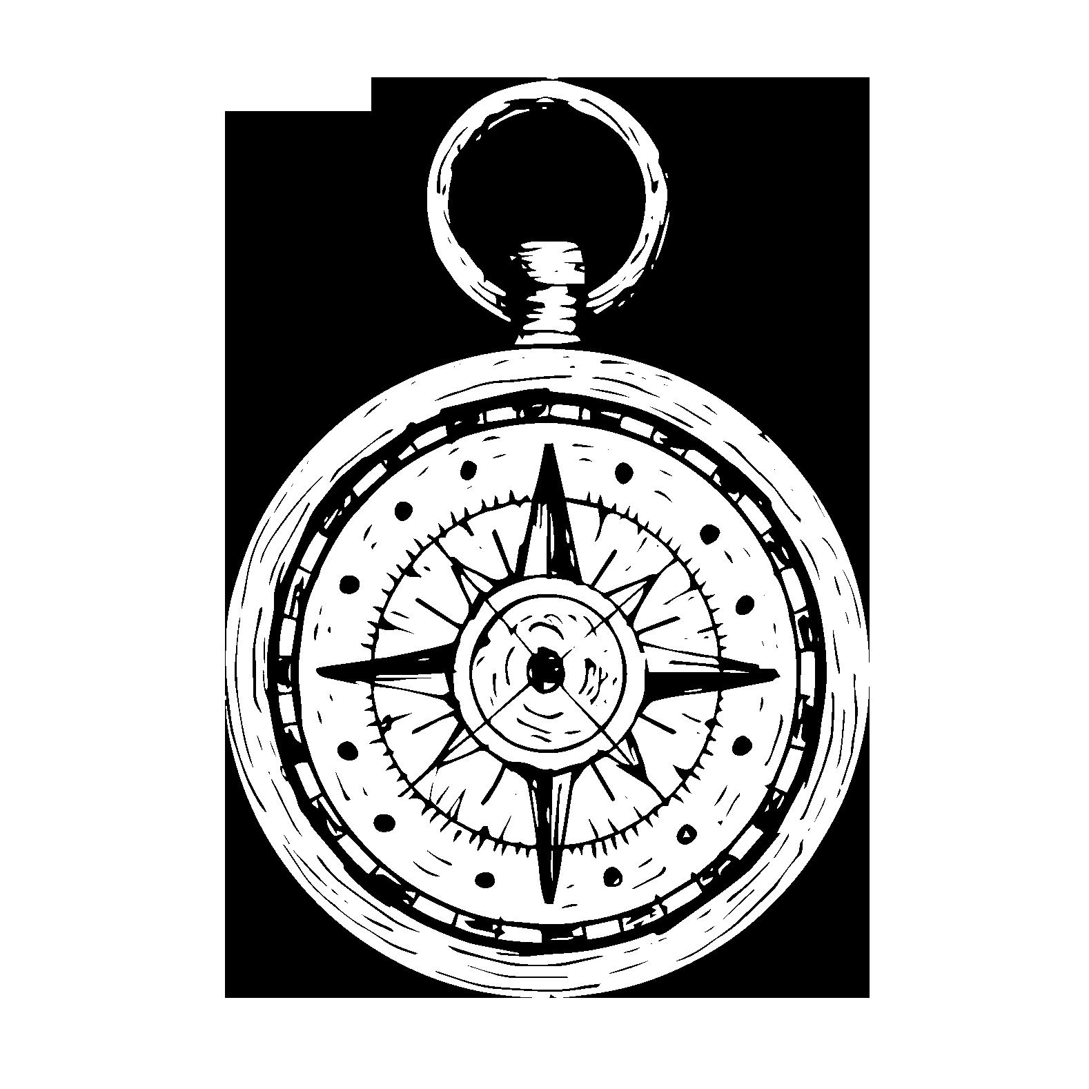 Kompas auf transparentem Hintergrund
