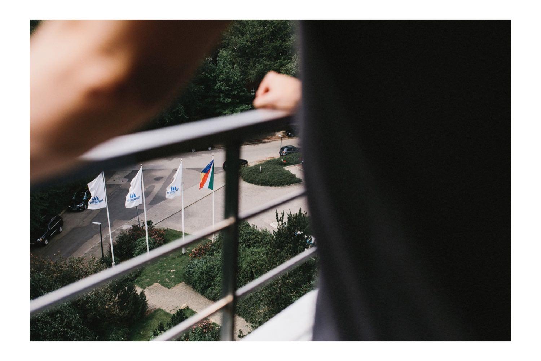 Blick vom Balkon des Maritim Hotels an der Kieler Förde
