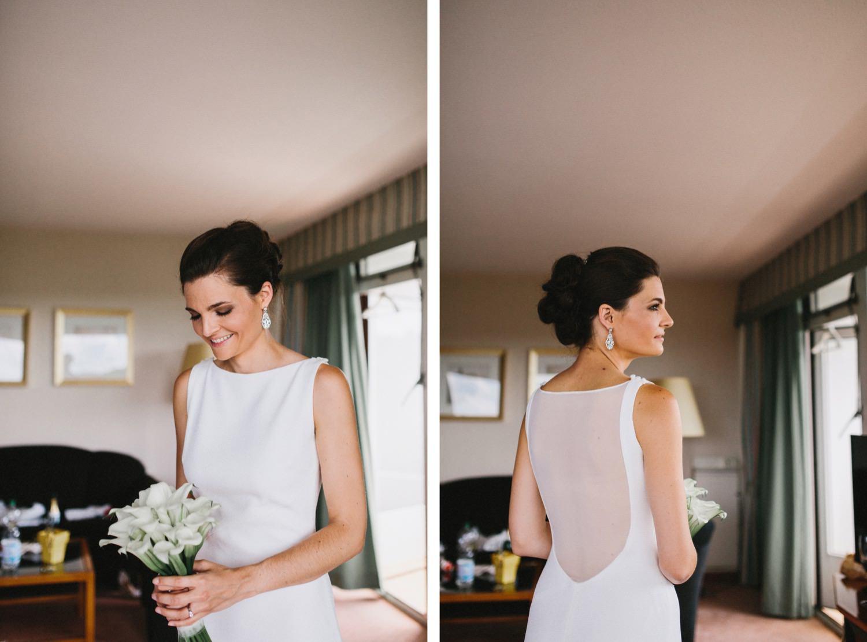 Hochzeitsfotograf Kiel fotografiert eine Braut im Hotelzimmer